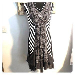 Tango Mango zebra sleeveless bubble dress